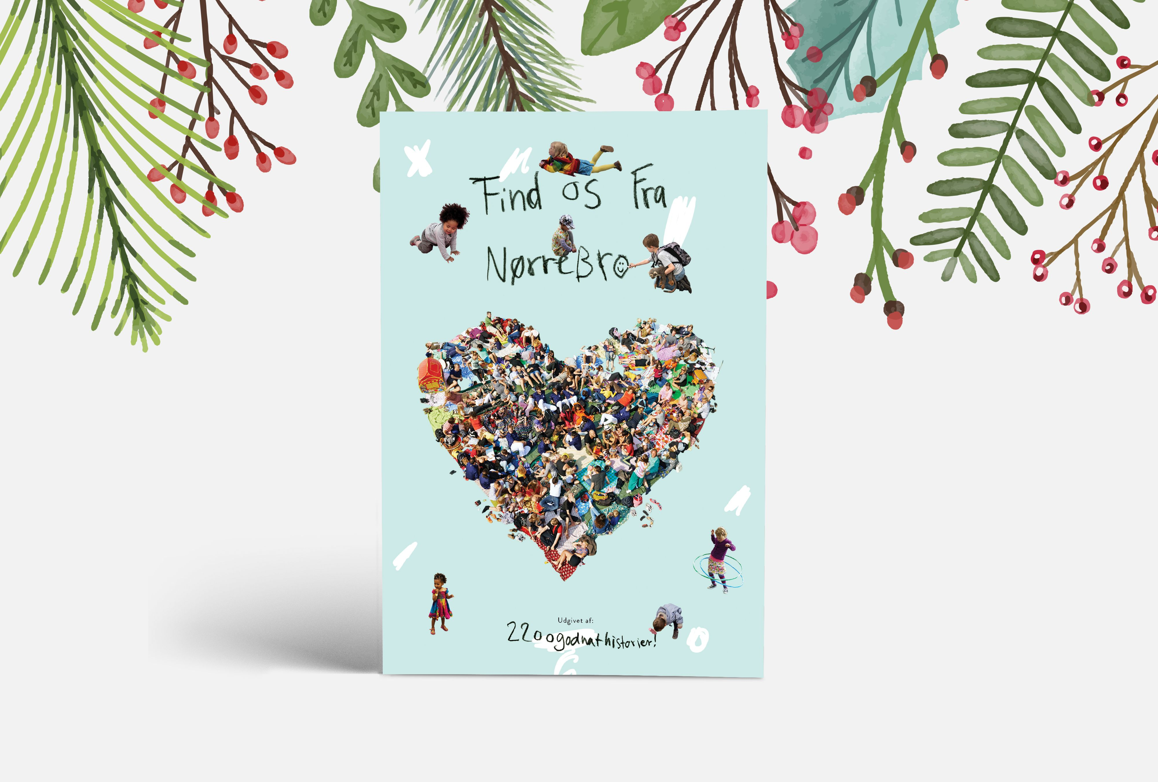 """Forside af børnebogen """"Find Os Fra Nørrebro"""" udgivet af 2200Godnathistorier"""
