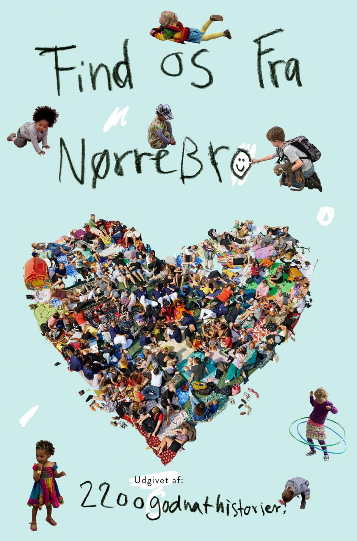 """Forsiden fra børnebogsprojektet """"Find Os Fra Nørrebro"""""""