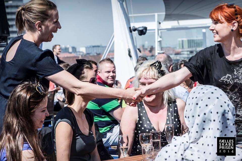 Stine Josefine Dige modtager af Fællesskabsprisen 2014