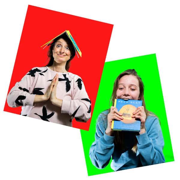 Sjove ansigter fra kortspillet Læsefjæs